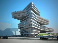 Spiral Tower by Zaha Hadid - Barcelona - The building, located at the confluence of streets Taulat and Sant Ramon de Penyafort, will have a ground surface of 20,650 sqm.