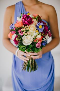 Bouquet by Flower Poetry. See more of this wedding on SMP: http://www.StyleMePretty.com/australia-weddings/western-australia-au/2014/03/07/summer-margaret-river-winery-wedding/ Photography Sarah Tonkin Photography Bridesmaid Flowers, Wedding Bouquets, Bridesmaid Dresses, Colorful Bridesmaid Bouquet, Bright Color Bouquet, Winery Weddings, Colorful Bouquets, Summer Bouquet Australia, Western Australia