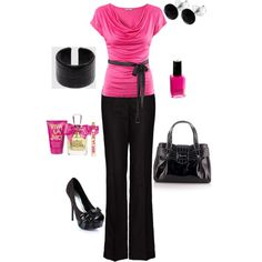 Pink and Black...can't go wrong with these colors