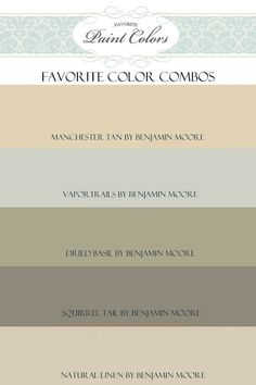 Benjamin Moore color combinations