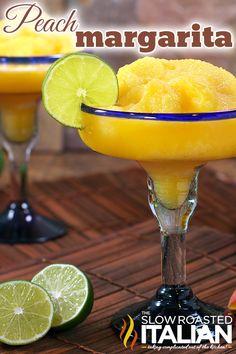 Perfectly Peach Frozen Margarita