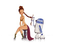 Star Wars: Princess Leia & R2D2.