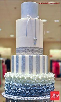 winter wonderland wedding, winter cakes, ruffle cake, wedding cakes, blue cakes, blue weddings, white cakes, fondant cakes, eat cake