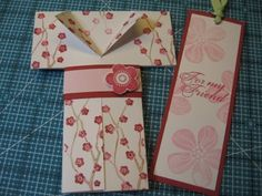 Lynda's Quiet Time: Tutorial  Kimono case and bookmark - could be adjusted to make the bookmark a slip out card/money holder