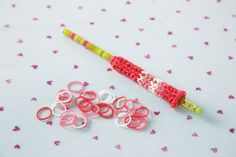 Rainbow Loom® Valentine's Pencil Favor