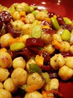 A recipe for a cranberry chickpea salad for vegetarians. Chickpeas are loaded with the protein you need to get through the day. This cranberry chickpea salad makes the perfect light lunch for anyone on a diet. It's low fat, low calorie and high in protien for anyone who is watching their weight. Vegetarians love this salad because it's filling and flavorful.