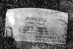 Grave of John Bell, victim of the Bell Witch