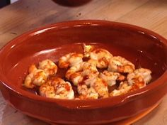 Oven Roasted Shrimp with Toasted Garlic and Red Chile Oil Recipe : Bobby Flay : Food Network - FoodNetwork.com