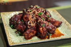 Mario Batali's Deep Fried Honey Glazed Wings recipe. #thechew