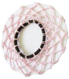 PDF crochet pattern 3 rose chignon nets by rippingyarns on