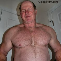 huge muscular hairy man
