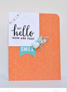 Hi Hello Smile *Card Kit Only by JennPicard at @Studio_Calico