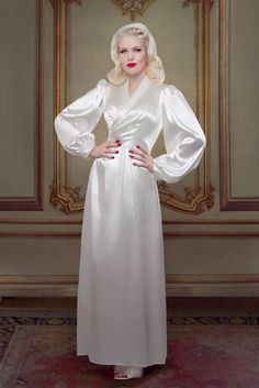 Bridal Silk Bettie Robe Betty Blues Loungerie