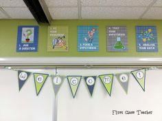 Classroom DIY: DIY Welcome Banner  http://www.classroomdiy.com/2012/08/diy-welcome-banner.html