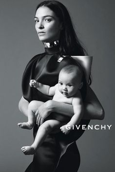 Givenchy Spring 2013 ad campaign Mariacarla Boscono and baby photographed by Mert & Marcus