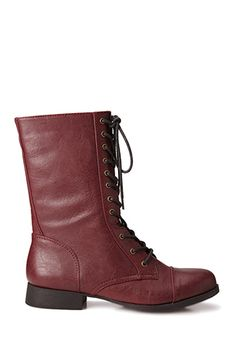 maroon boots