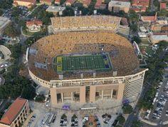 "Tiger Stadium at LSU, also known as ""Death Valley""."