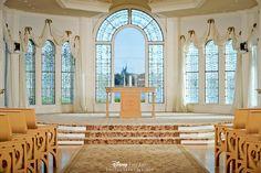 Disney's Wedding Pavilion and it's one-of-a-kind view of Cinderella's Castle #Disney #Wedding #WeddingPavilion #Castle