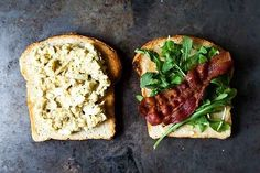 Bacon and Egg Salad Sandwich with Dukkah and Peppery Greens | 15 Ways To Pack A Delicious Workday Lunch