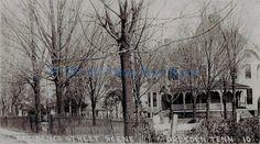 Residence Street Scene, Dresden Tenn.  Picture postcard of Moran Place.  Early 1900's.