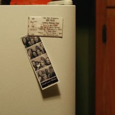 Concert tickets made into magnets!