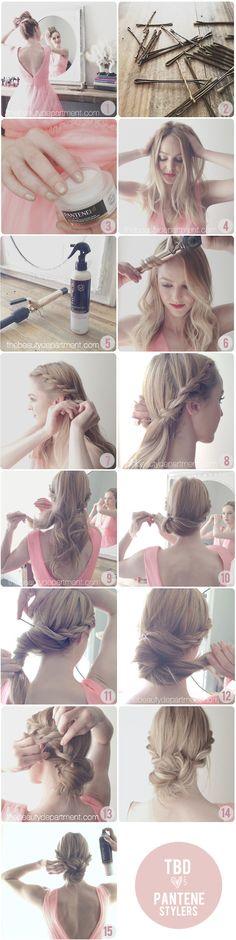 braid chignon, hair braid, hair tutorials, long hair, rope braid, prom hair, wedding hairs, hairstyl, hair idea