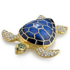 Estée Lauder Jeweled Sea Turtle Perfume Compact <3