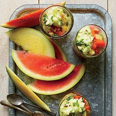 Watermelon with Tangy Granita | CookingLight.com