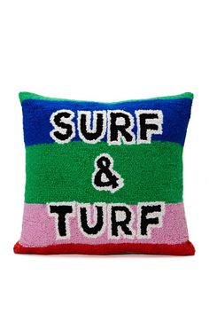 Surf and Turf Pillow | Shop Team Babe at Nasty Gal