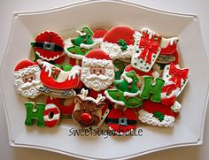 Decorated cookies.
