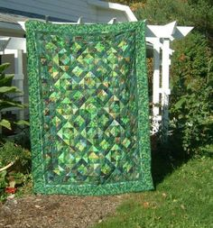 Shades of green quilt
