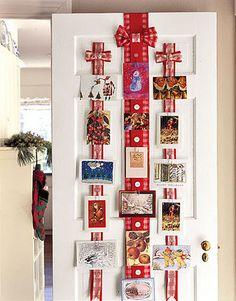 Display Christmas cards.