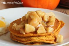 Pumpkin Pancakes Recipe with Spiced Apples!