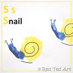 Red Ted Art's Blog » Blog Archive Handprint Alphabet - S for... Snail » Red Ted Art's Blog