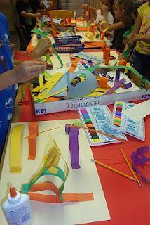 """Paper sculpture art from """"Texas Art Teacher"""""""