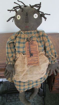 Black Primitive Doll by Bettesbabies on Etsy, $43.00