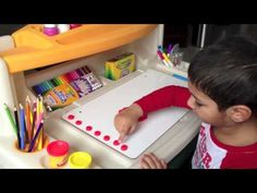 Learning Numbers 1-10 for Children. A fun and engaging video narrated by a child, helping other children learn to recognize and count numbers 1-10.  In this video our cute toddler uses Play-Doh to create small little red circles and counts them. In addition, we included Number Flashcards to help reinforce the learning experience.