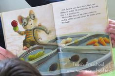 """One is a Feast for Mouse"" : a book about a Thankgiving feast shared by Teach Preschool"