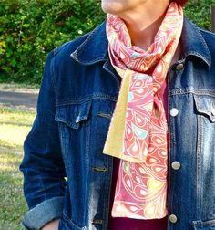 Spoonflower - quilted scarf DIY
