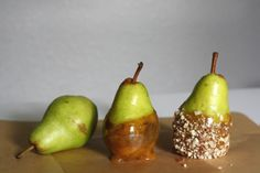 DIY Autumn gift basket to include hazlenut caramel pears.