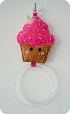 Porta Pano de Prato Cupcake