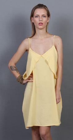 Soft Yellow Tank Dress