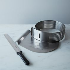 Layer Cake Slicing Kit on Provisions by Food52  Great, useful gadget......