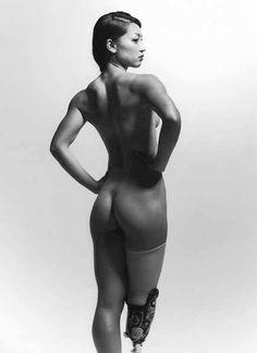 Semi-nude calendar of prosthetic athlete, Maya Nakanishi