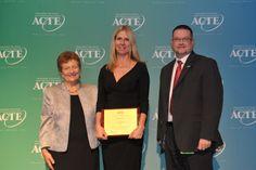 Region I Career Guidance Award winner, Janet Baughn of Xenia, Ohio. https://www.acteonline.org/general.aspx?id=5266