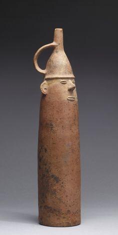 Figurative Bottle, Salinar, 200 BC- 100 AD, ceramic orangeware