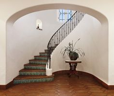 Spanish Colonial - mediterranean - staircase - other metro - D. D. Ford Construction, Inc