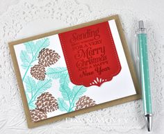 Best Wishes For A Very Merry Christmas Card by Dawn McVey for Papertrey Ink (September 2014)