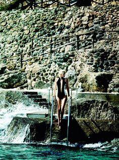 Carolyn Murphy, Swept Away, American Vogue, December 2012 | Mario Testino