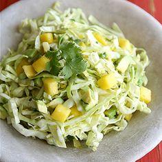 Mexican Slaw Recipe with Mango, Avocado & Cumin Dressing for Cinco de ...